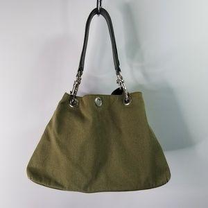 Handbags - Army Green Canvas Shoulder Bag